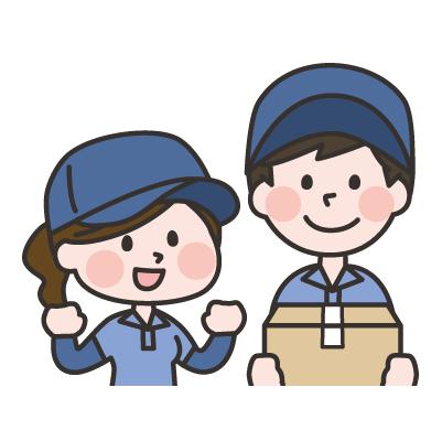 工場内での包装・梱包作業